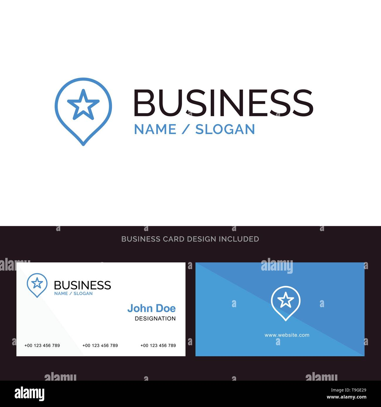 Location Stare Navigation Blue Business Logo And Business