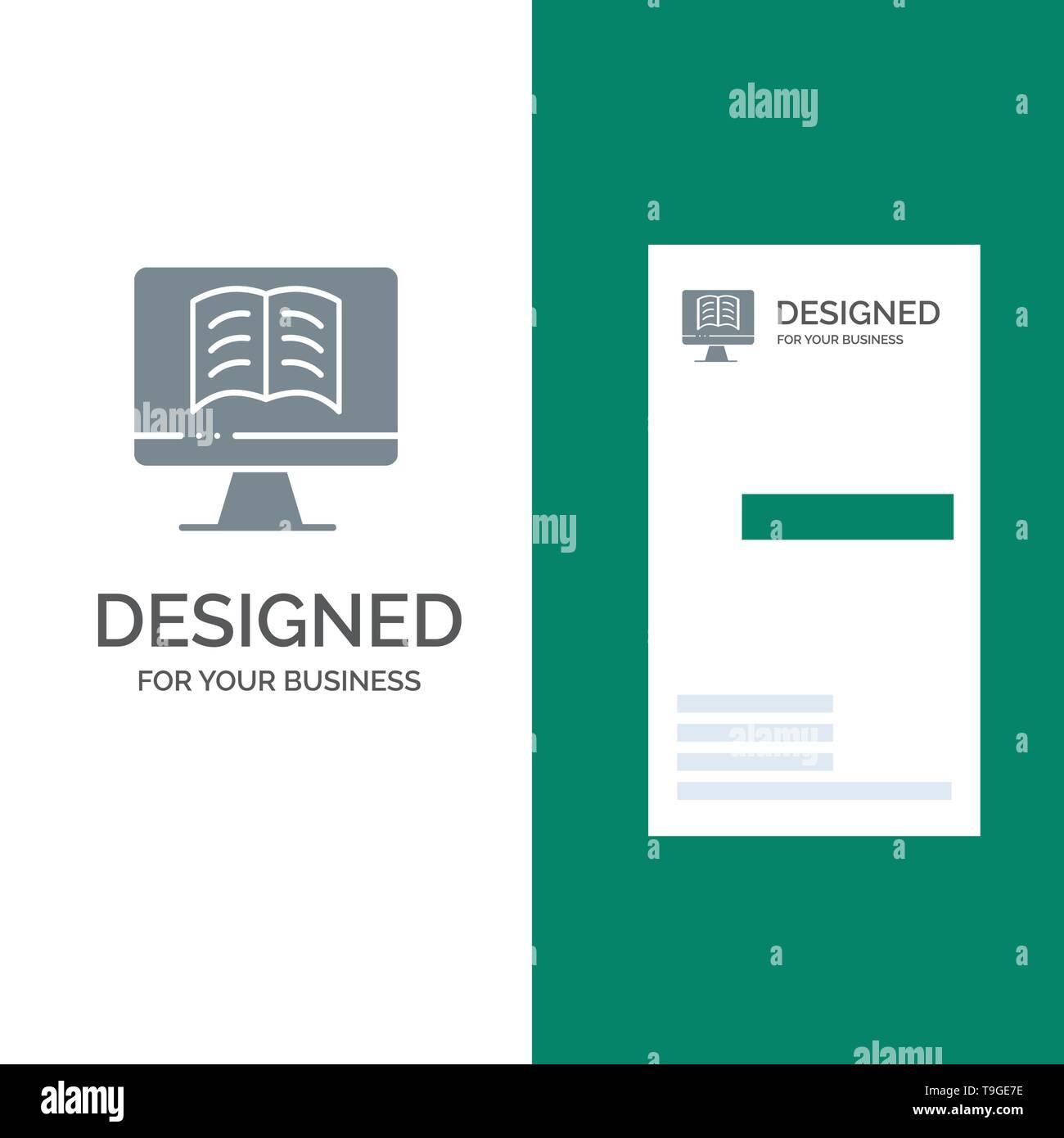 Computer Book Ontechnology Grey Logo Design And Business