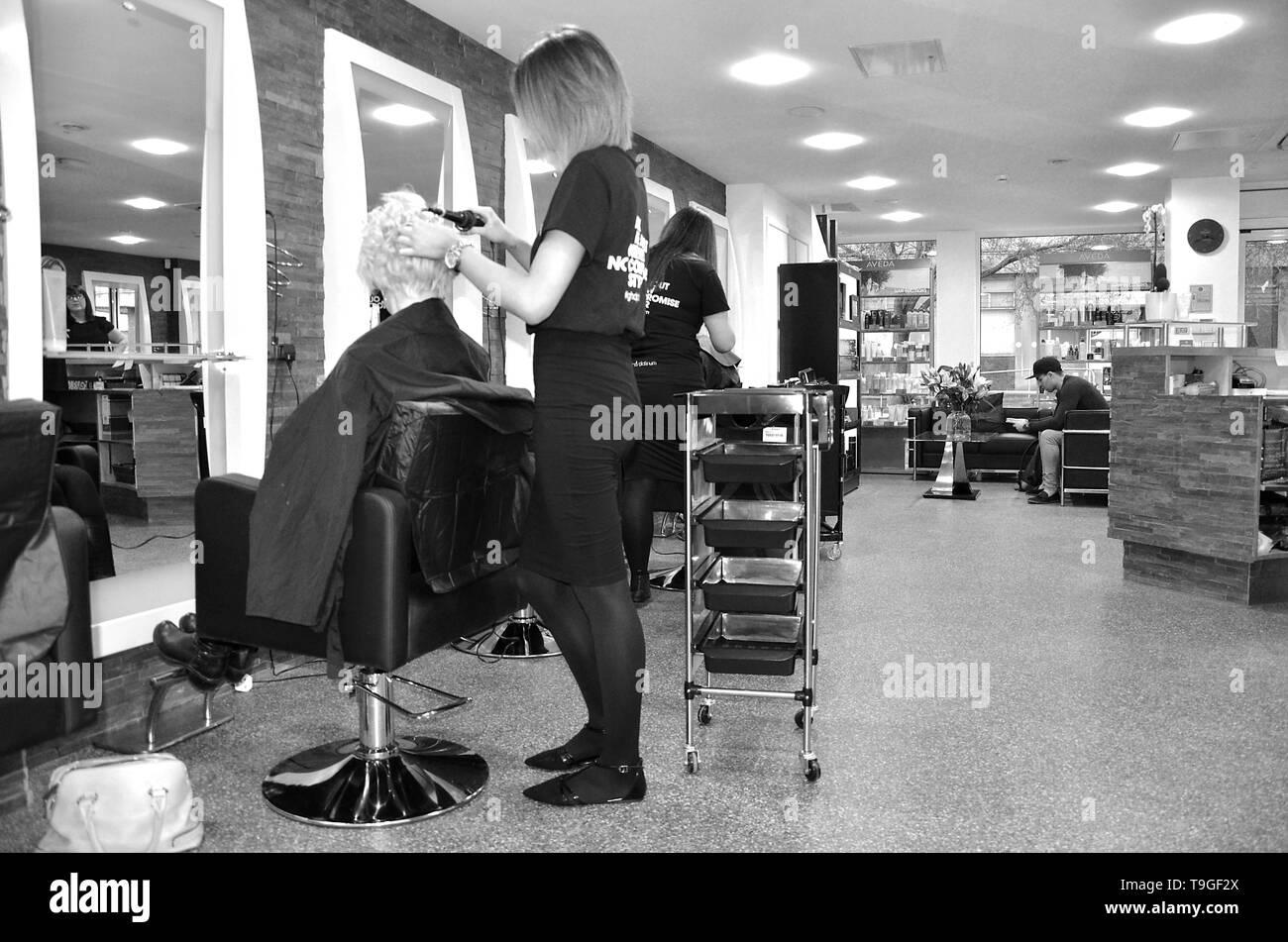 hair and beauty salon - Stock Image