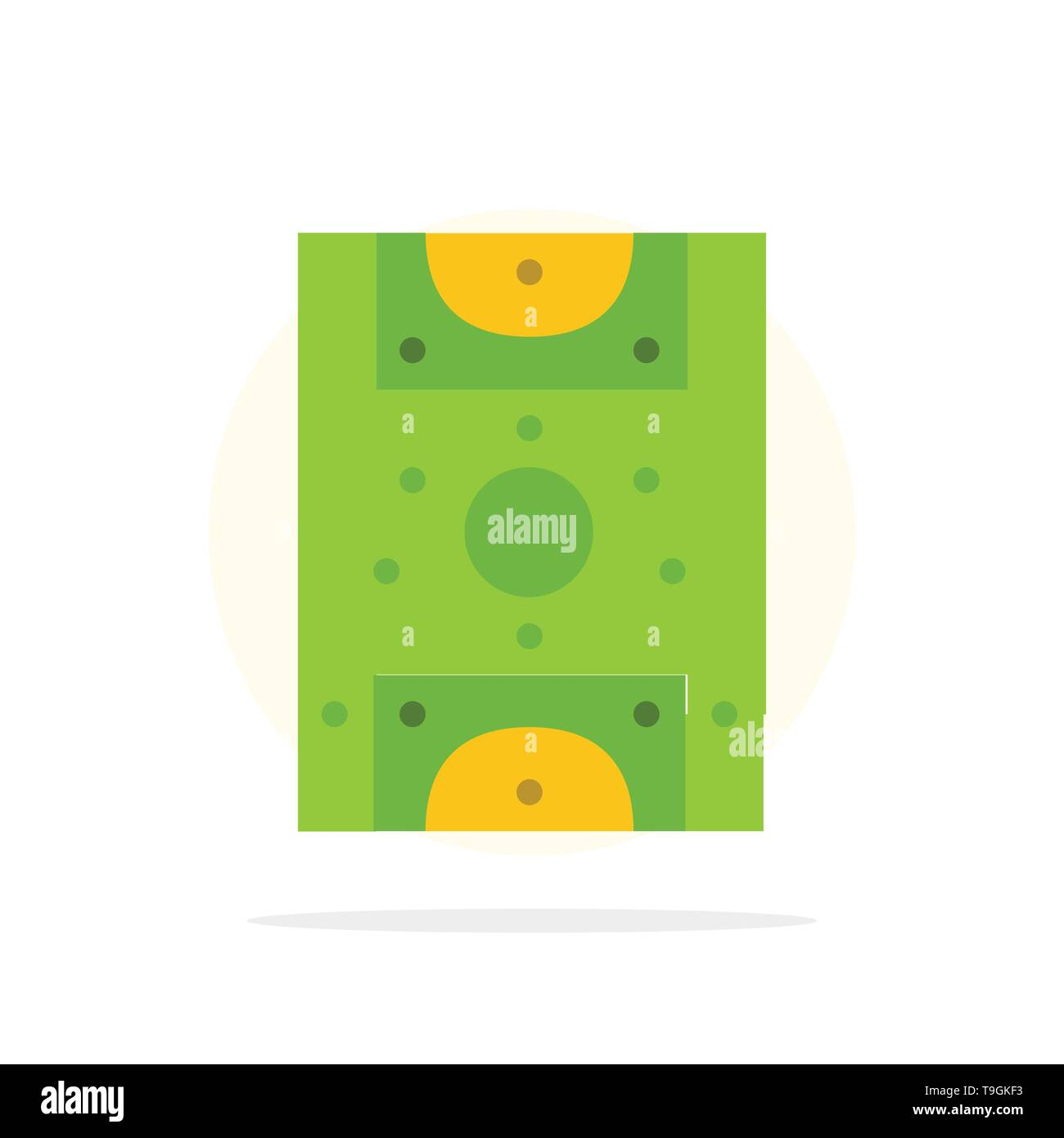 Entertainment, Game, Football, Field Abstract Circle Background Flat color Icon - Stock Image
