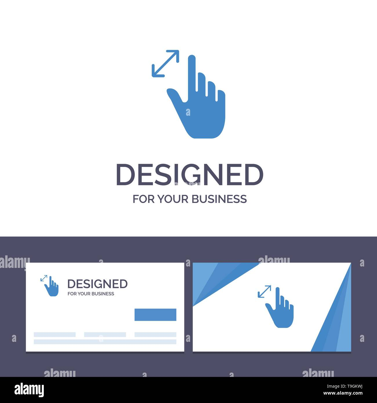 Creative Business Card and Logo template Expand, Gestures