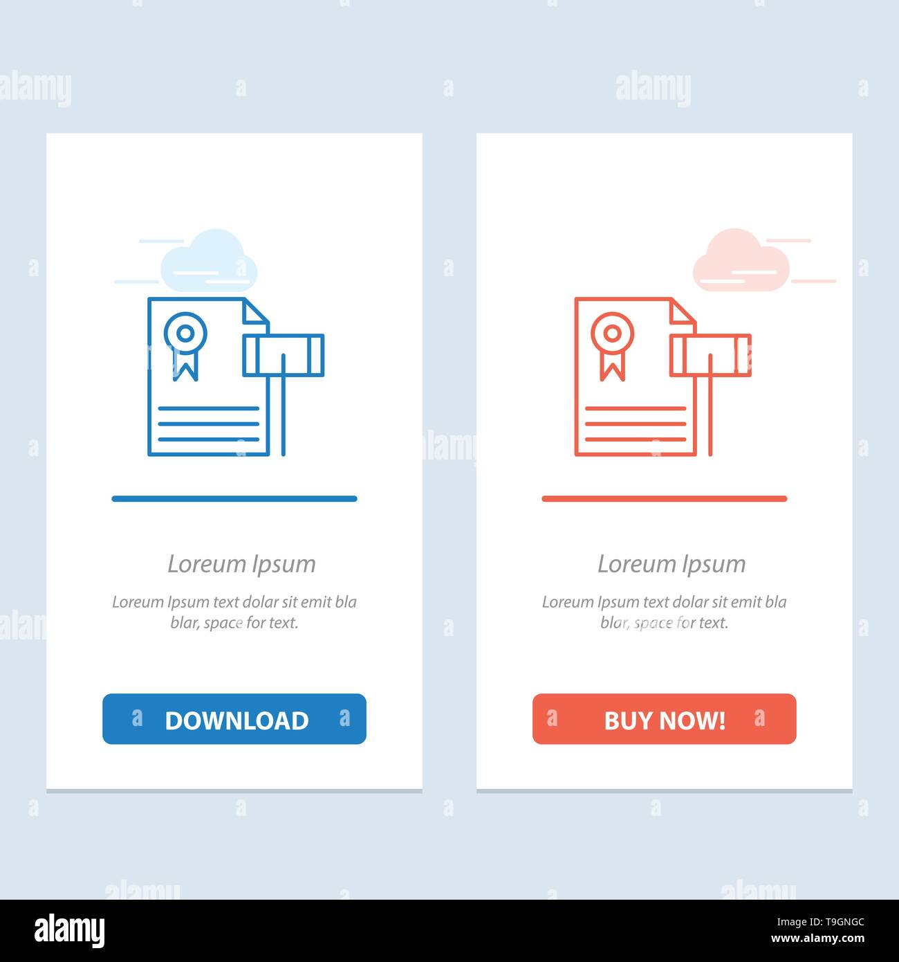 Auction, Vintage, Expensive, Gravel, Judge  Blue and Red Download and Buy Now web Widget Card Template - Stock Image