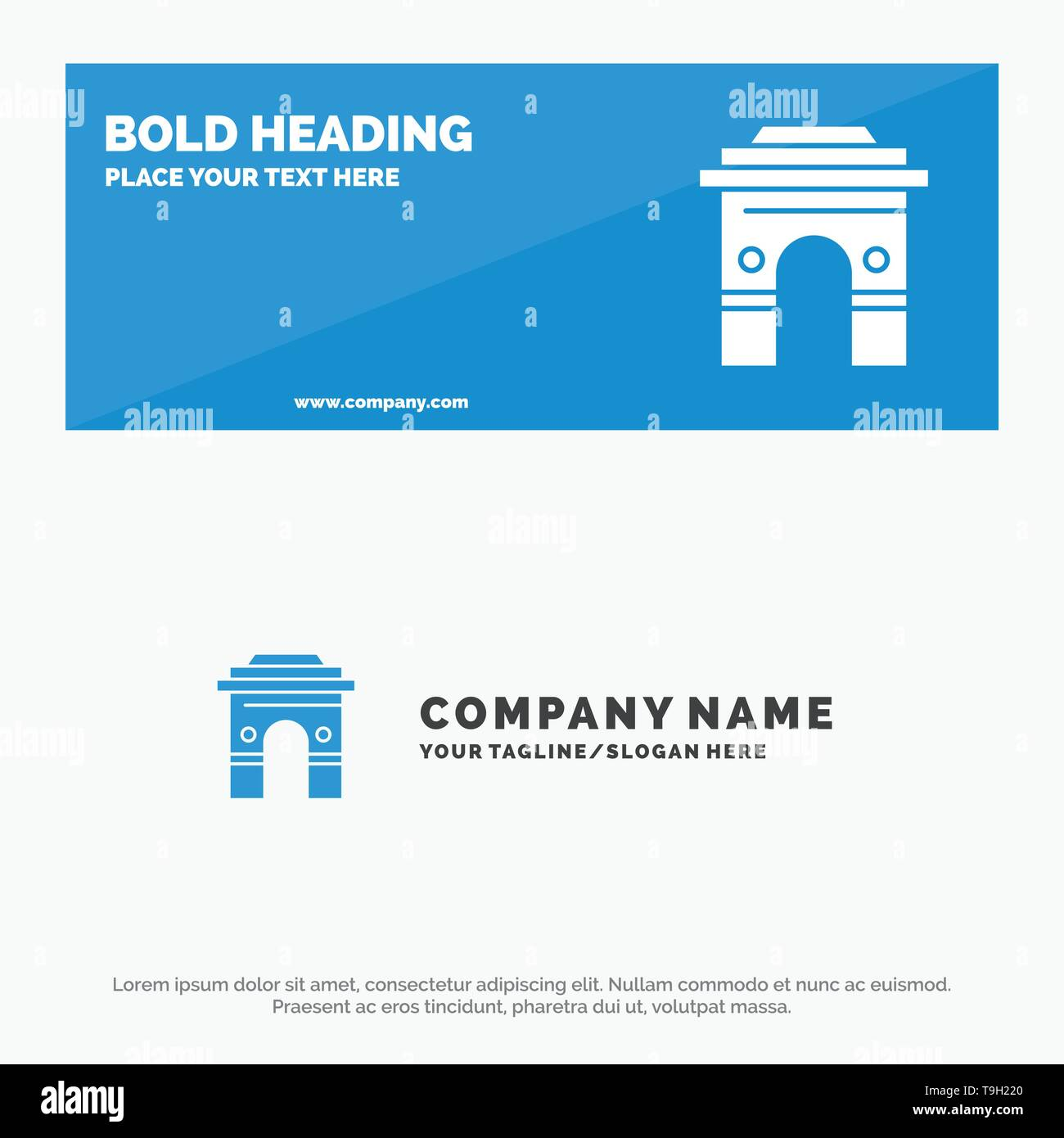 Culture, Global, Hinduism, India, Indian, Srilanka, Temple SOlid Icon Website Banner and Business Logo Template - Stock Image