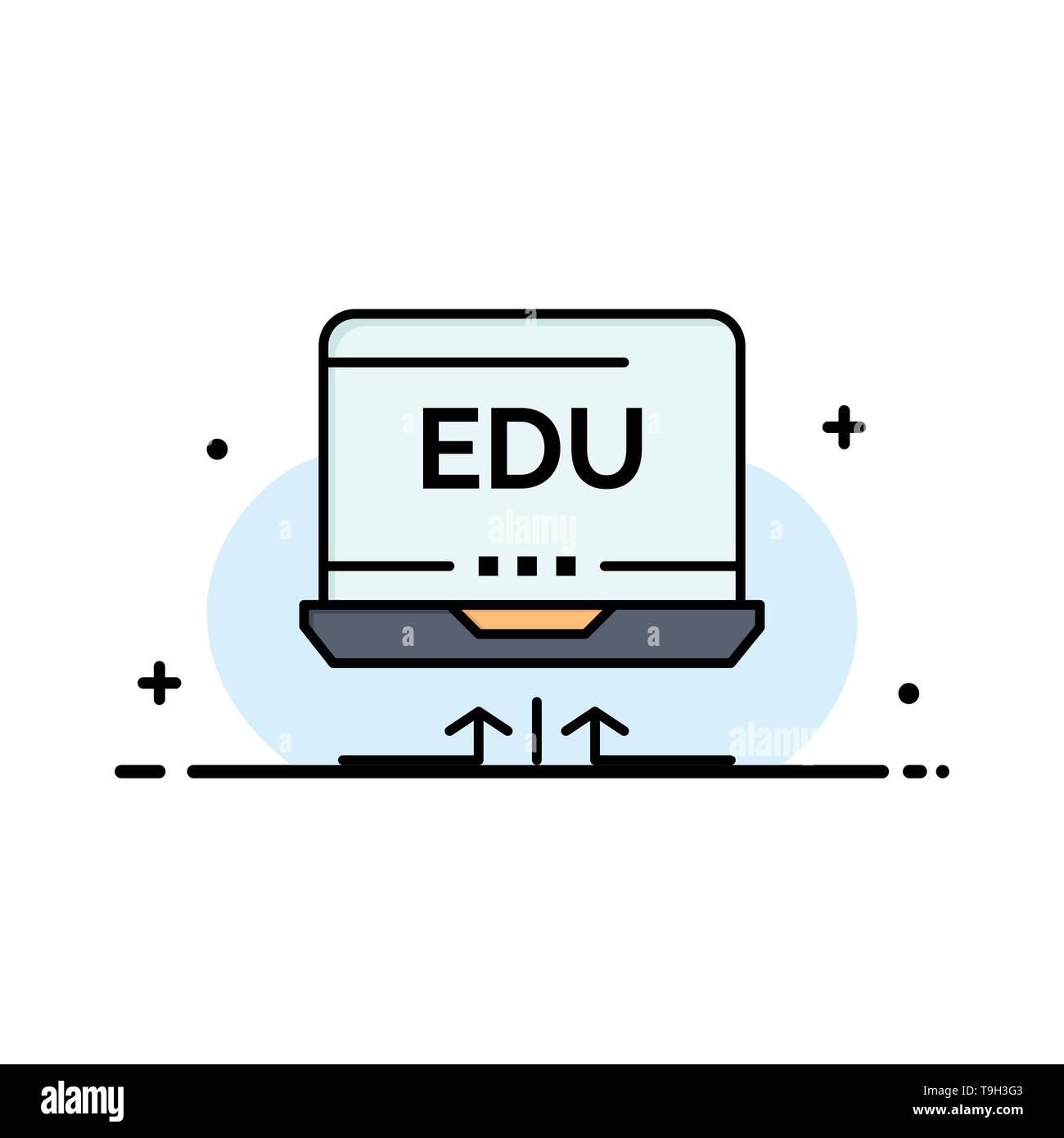 Laptop, Hardware, Arrow, Education Business Logo Template. Flat Color - Stock Image