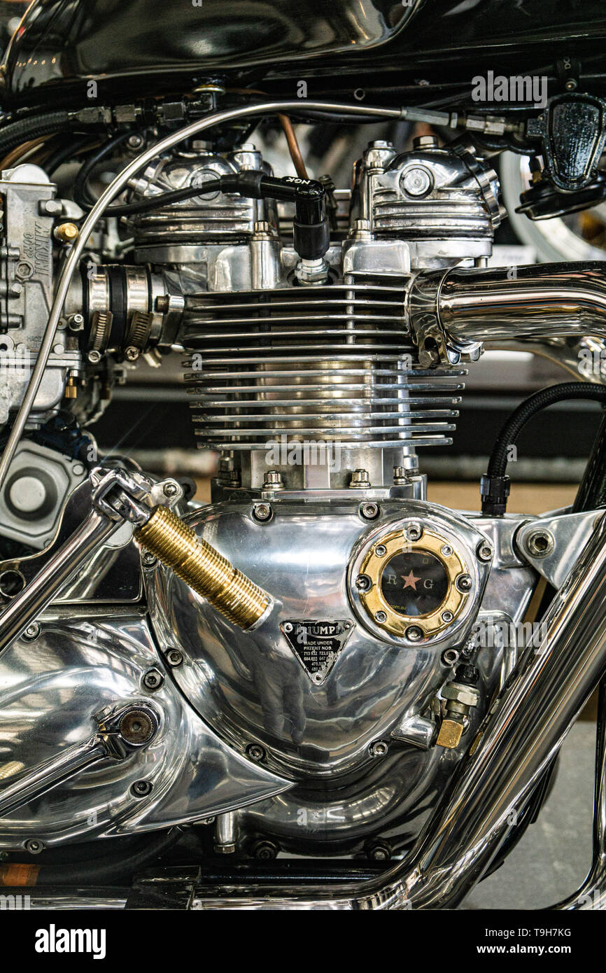 Custom motorcycles at the 'Throttle Roll' 2019 show in Sydney, Australia - Stock Image