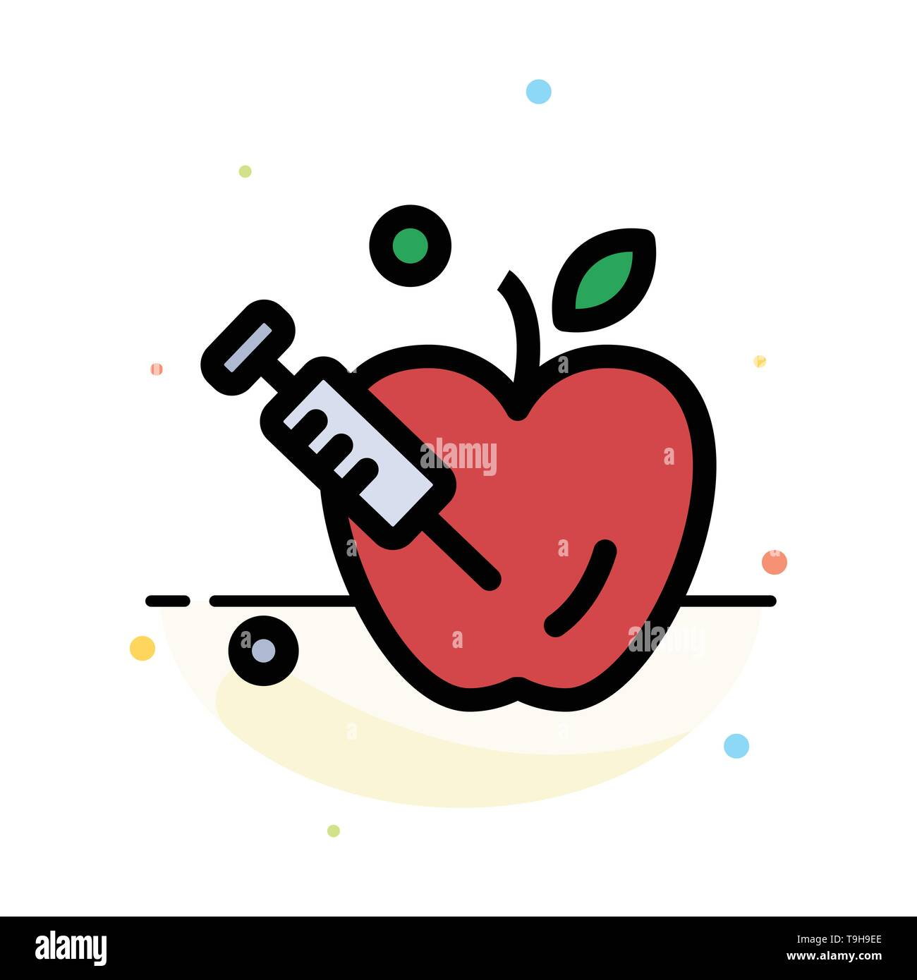 Apple, Gravity, Science Abstract Flat Color Icon Template - Stock Vector
