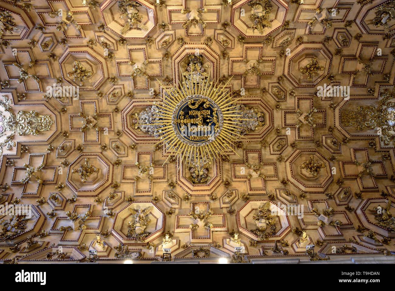 interior of the Cathedral Basilica of Salvador Bahia on Brazil - Stock Image