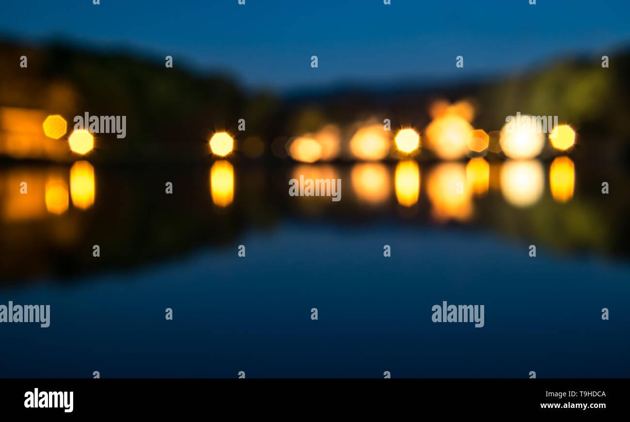 De focused, Blurred image, Light bokeh - Stock Image