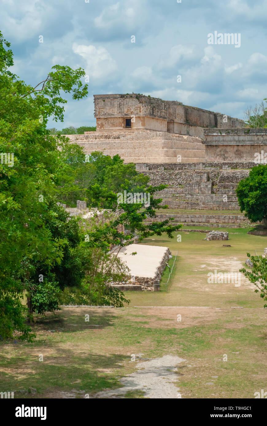 Ek Balam archaeological area, in the Yucatan peninsula - Stock Image