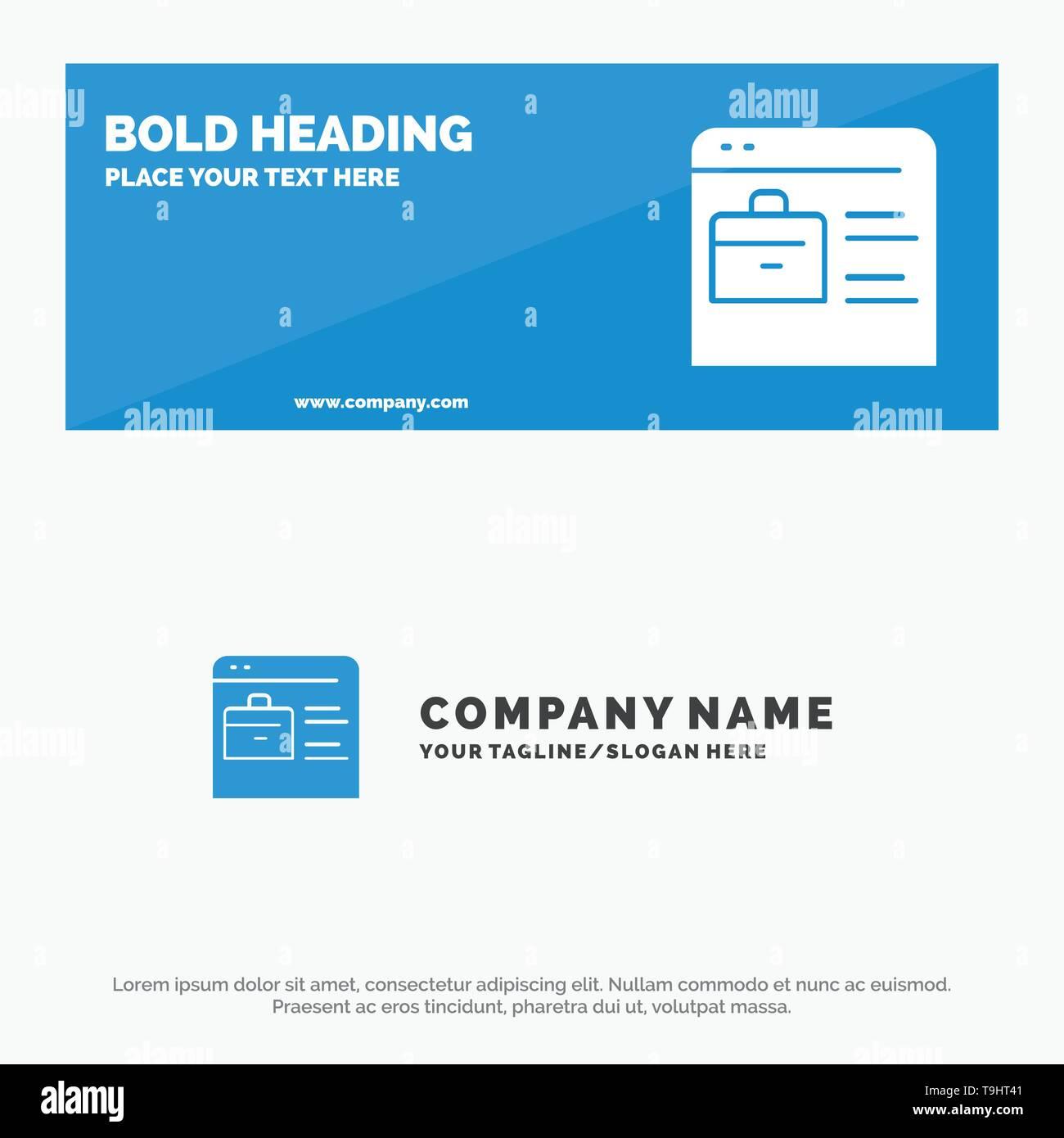 Bag Find Job Job Website Online Portfolio Solid Icon Website Banner And Business Logo Template Stock Vector Art Illustration Vector Image 246869169 Alamy