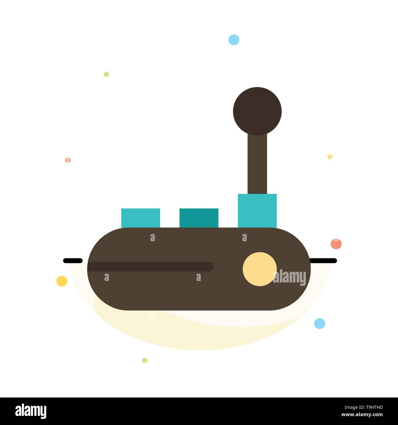 Controller, Joy Pad, Joy Stick, Joy pad Abstract Flat Color Icon Template - Stock Image