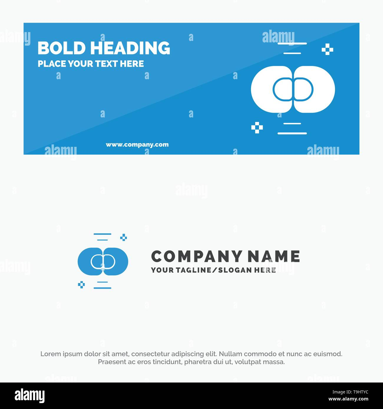 Biochemistry, Biology, Cell, Chemistry, Division SOlid Icon Website Banner and Business Logo Template - Stock Image