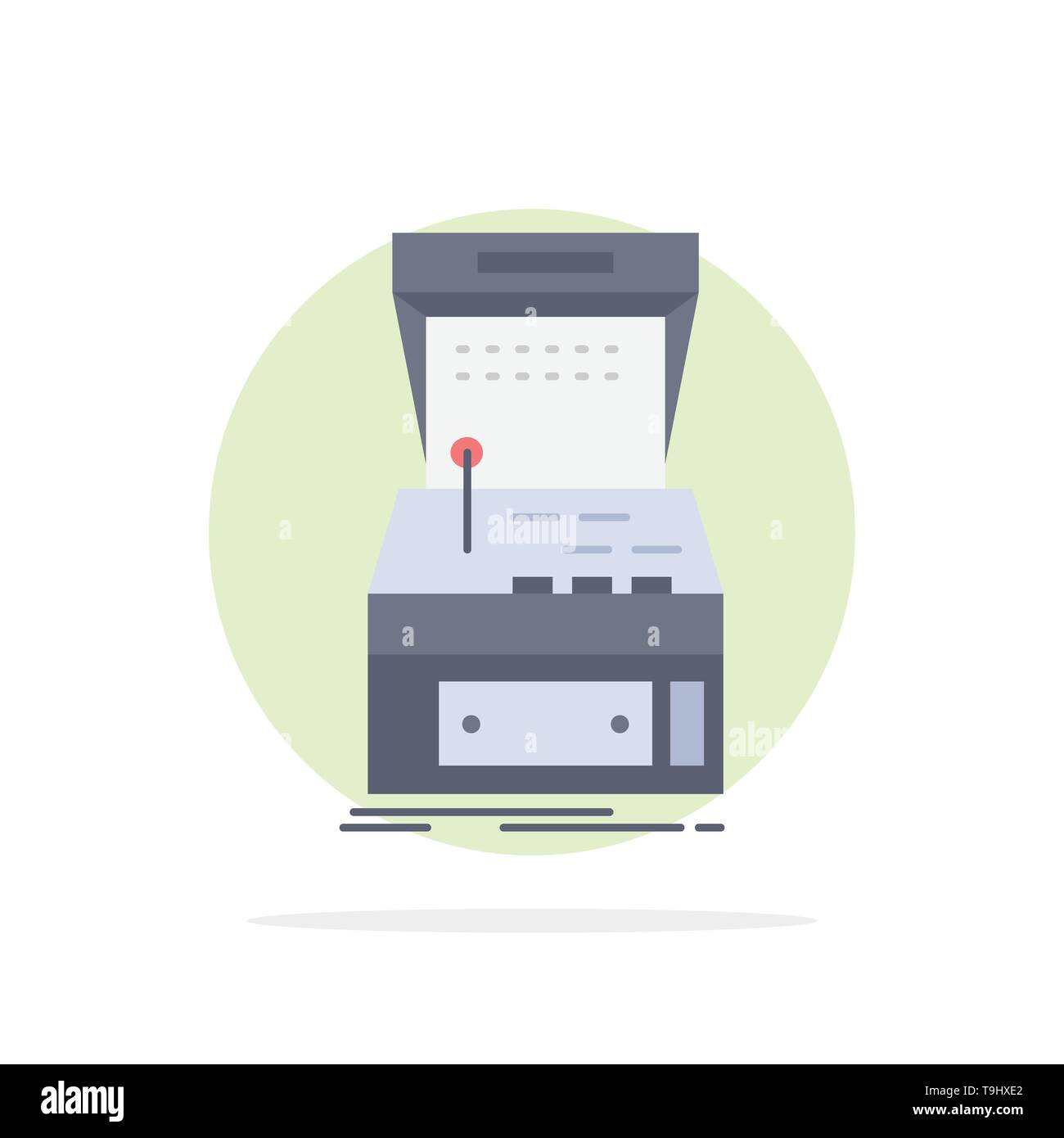 Arcade, console, game, machine, play Flat Color Icon Vector - Stock Image