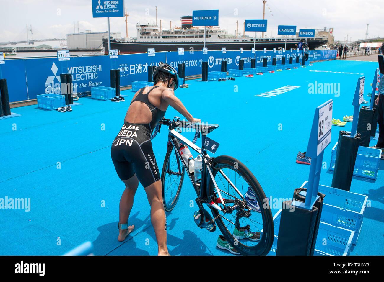 Yokohama, Japan. 18th May, 2019. 2019 ITU World Triathlon, World Paratriathlon Yokohama at Yamashita Park and Minato Mirai, Yokohama. Ueda (Photos by Michael Steinebach/AFLO) Credit: Aflo Co. Ltd./Alamy Live News Stock Photo