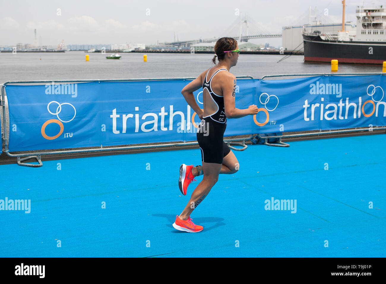 Yokohama, Japan. 18th May, 2019. 2019 ITU World Triathlon, World Paratriathlon Yokohama at Yamashita Park and Minato Mirai, Yokohama. Sato (Photos by Michael Steinebach/AFLO) Credit: Aflo Co. Ltd./Alamy Live News Stock Photo