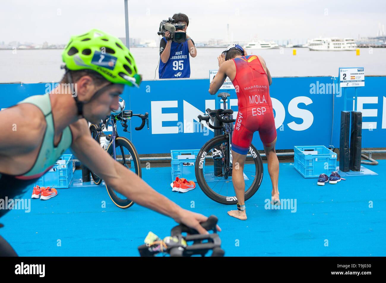 Yokohama, Japan. 18th May, 2019. 2019 ITU World Triathlon, World Paratriathlon Yokohama at Yamashita Park and Minato Mirai, Yokohama. Mola (Photos by Michael Steinebach/AFLO) Credit: Aflo Co. Ltd./Alamy Live News Stock Photo