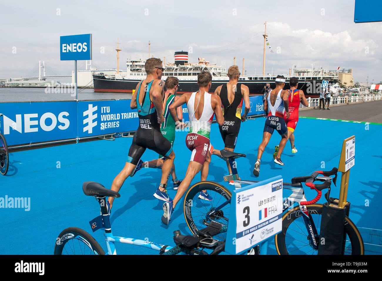 Yokohama, Japan. 18th May, 2019. 2019 ITU World Triathlon, World Paratriathlon Yokohama at Yamashita Park and Minato Mirai, Yokohama. (Photos by Michael Steinebach/AFLO) Credit: Aflo Co. Ltd./Alamy Live News Stock Photo