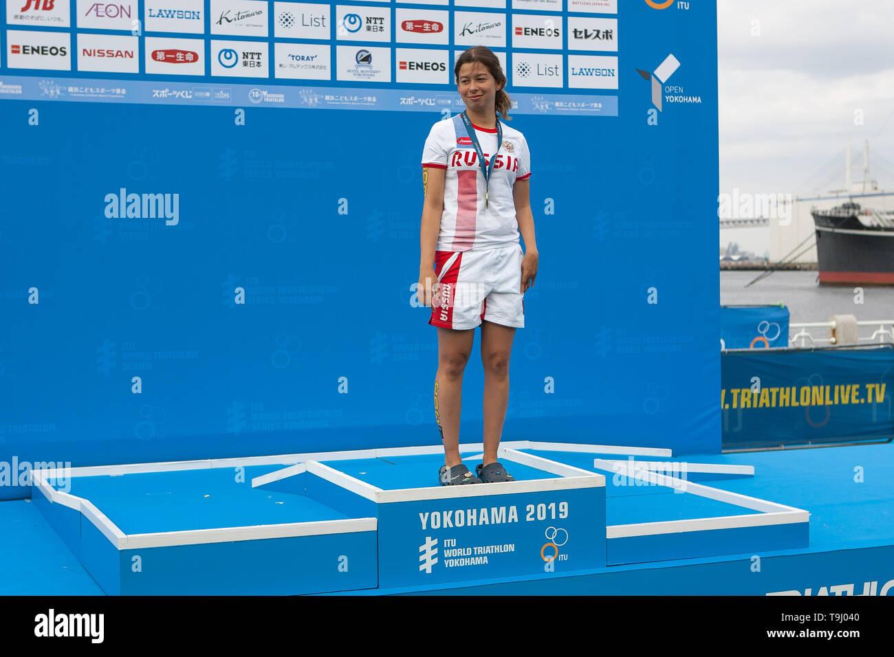 Yokohama, Japan. 18th May, 2019. 2019 ITU World Triathlon, World Paratriathlon Yokohama at Yamashita Park and Minato Mirai, Yokohama. Plotnikova (Photos by Michael Steinebach/AFLO) Credit: Aflo Co. Ltd./Alamy Live News Stock Photo