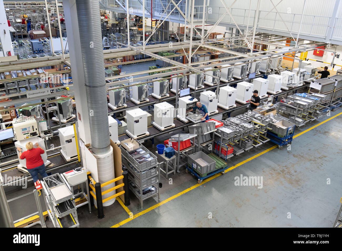Bielefeld Germany 17th May 2019 Dishwashers Are On A