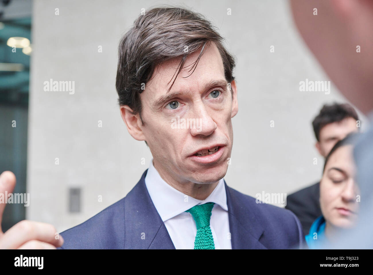 London, UK. 19th May 2019.  Rory Stewart Secretary of State for International Development,   leaves the  BBC,  Broadcasting House, after  his appearance on the Andrew Marr Show. Credit: Thomas Bowles/Alamy Live News Stock Photo