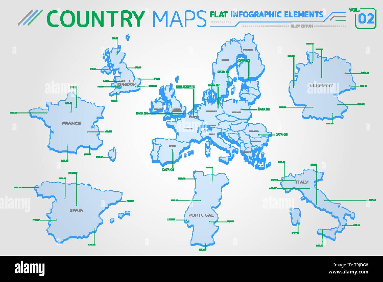 Map Of Spain Portugal And Italy.Europe United Kingdom France Spain Portugal Italy And Germany