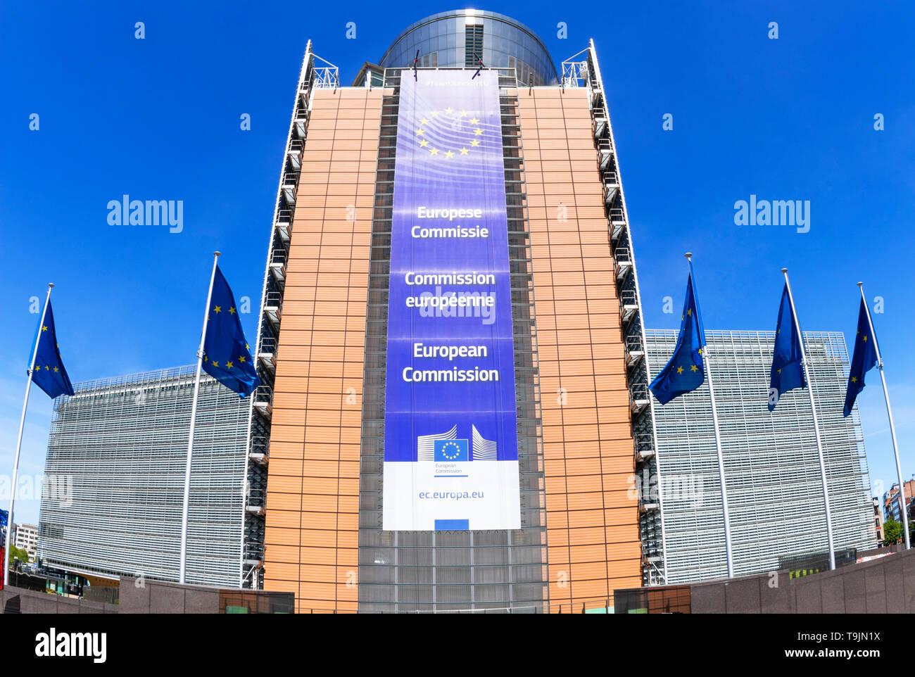 European Commission headquarters building EU commission building european commission building Berlaymont building, Brussels, Belgium, EU, Europe - Stock Image