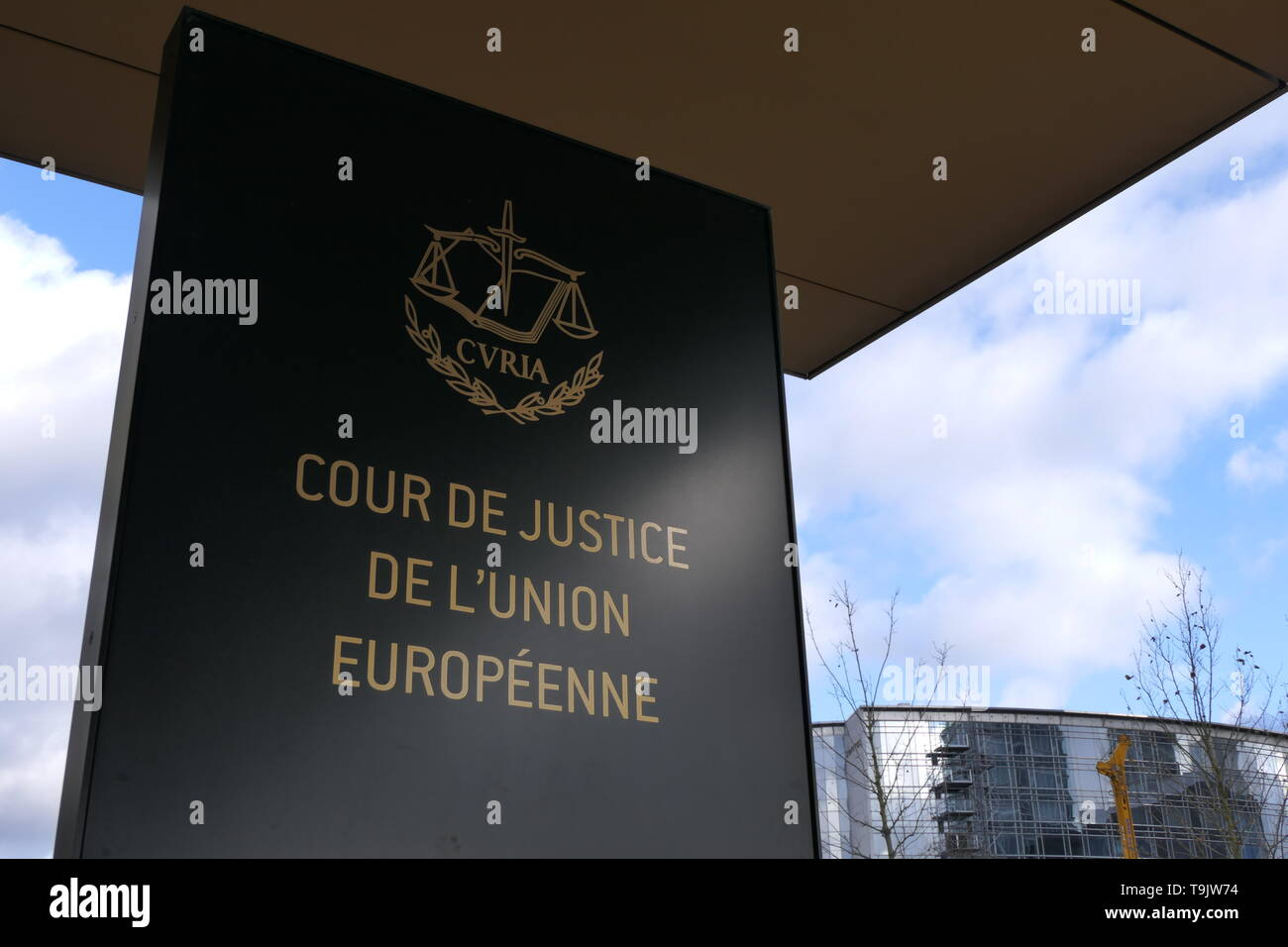 Court of Justice of the European Union (CVRIA) Luxembourg - Stock Image