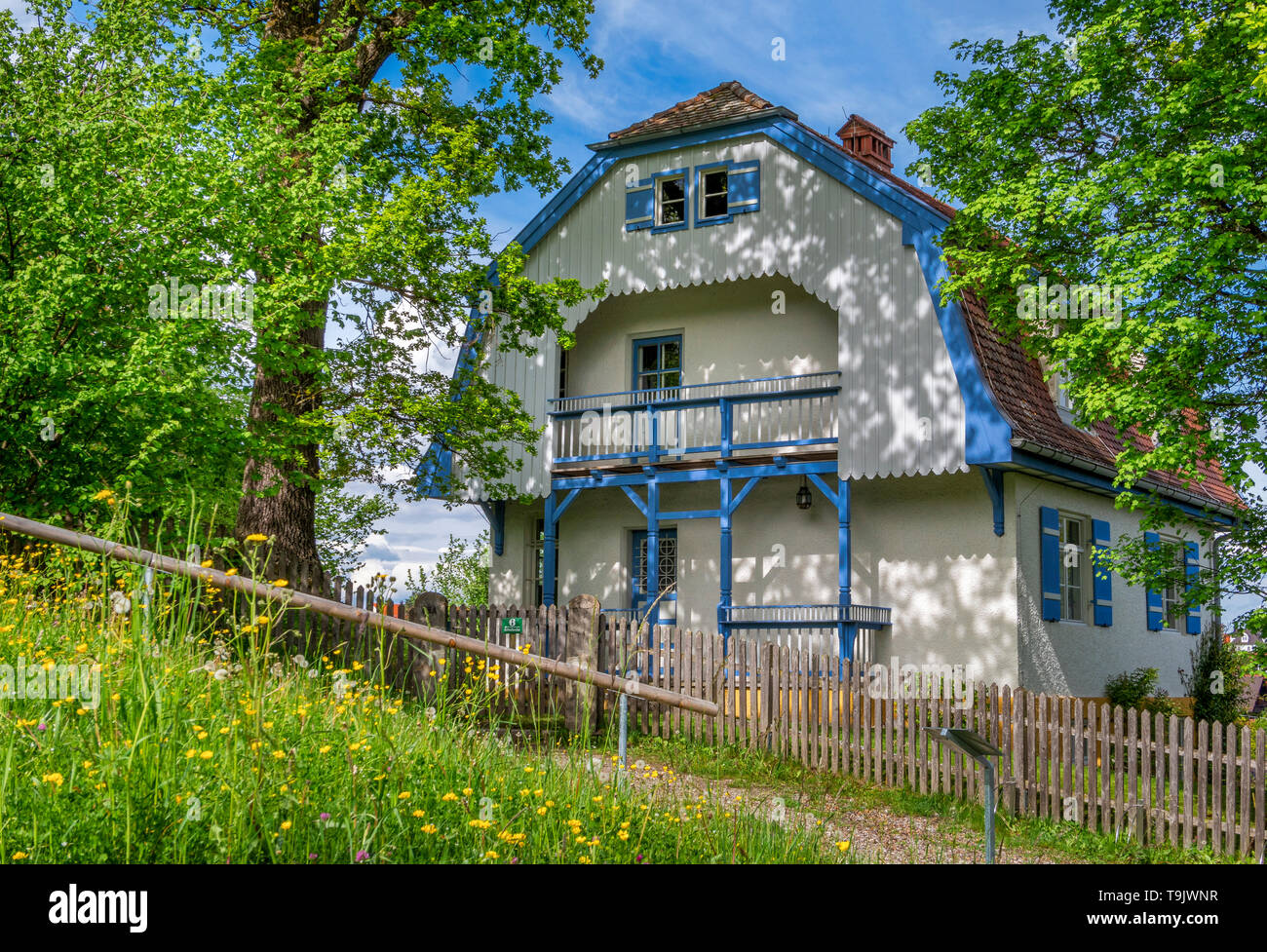 Muenter House, also known as the 'Russian House, ' inhabited by Russian painter Vassily Kandinsky and German Expressionist painter Gabriele Muenter in - Stock Image
