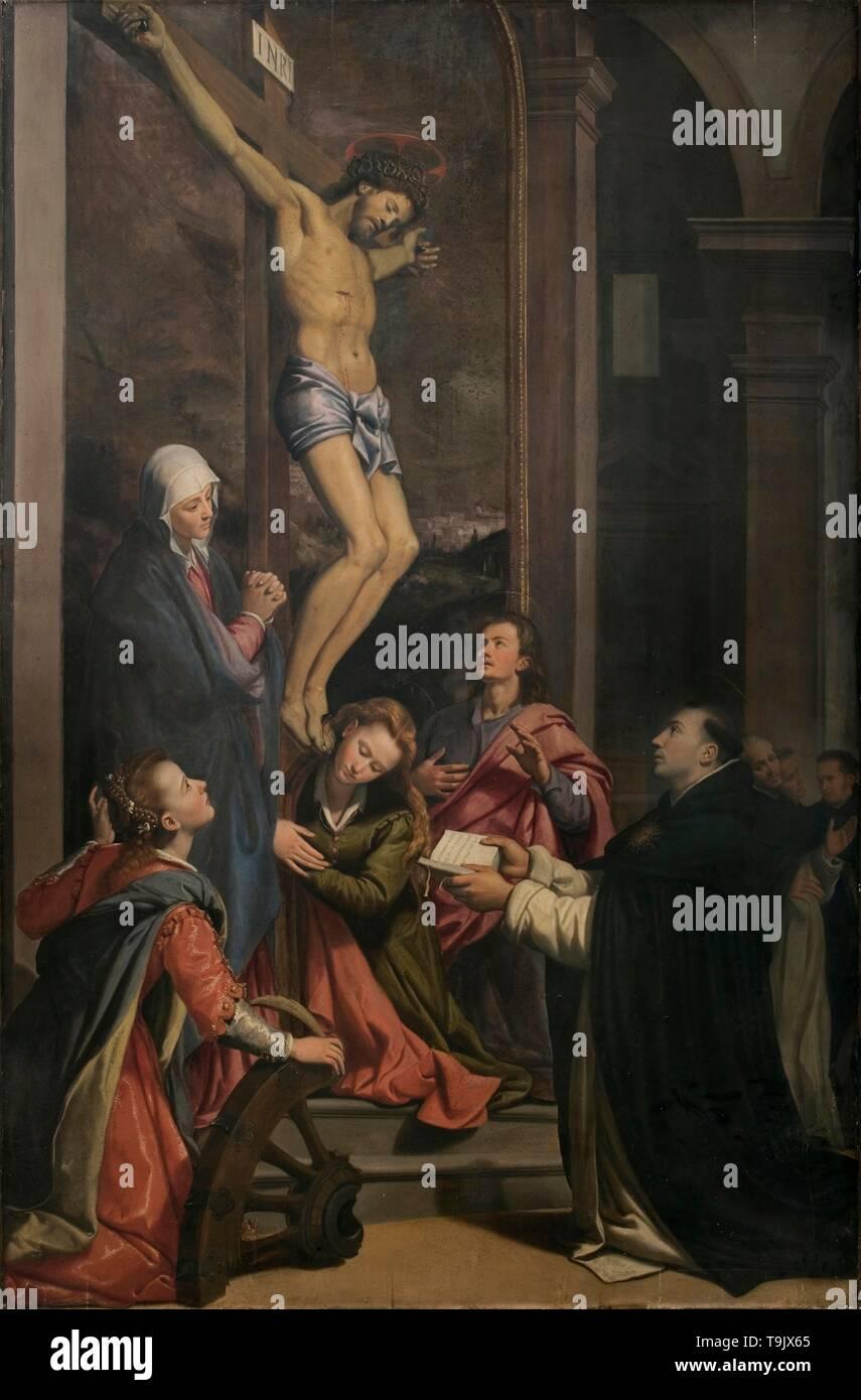 Vision of Saint Thomas Aquinas. Museum: Chiesa di San Marco, Firenze. Author: SANTI DI TITO. - Stock Image