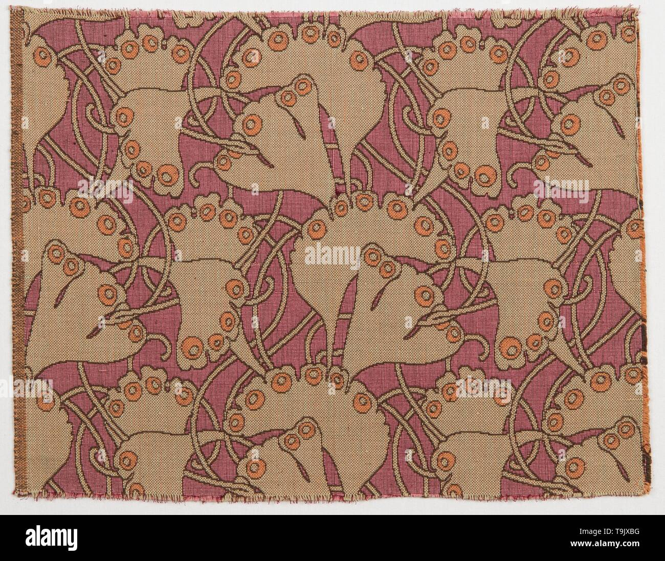 Textile design. Museum: Museum of Applied Arts, Vienna. Author: KOLOMAN MOSER. - Stock Image