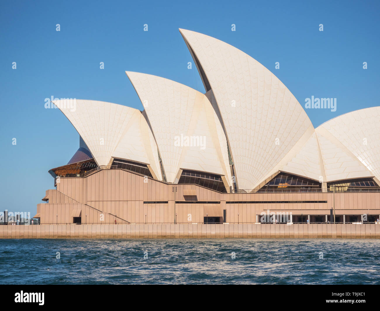 SYDNEY, AUSTRALIA - FEBRUARY 11, 2019: With its interlocking roof or 'shells', Sydney Opera House is Australia's most recognisable building. Stock Photo
