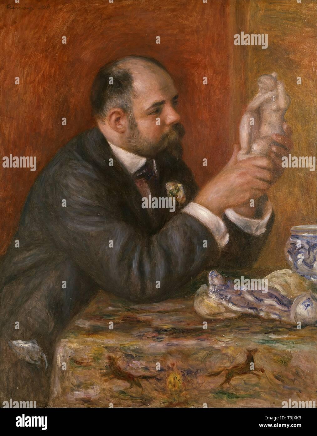 Portrait of Ambroise Vollard (1865-1939). Museum: Courtauld Institute of Art, London. Author: Pierre-Auguste Renoir. - Stock Image