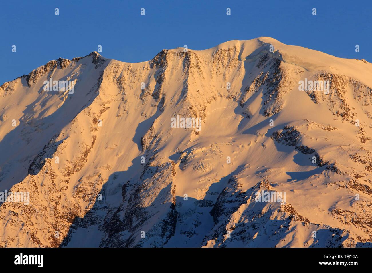 Dôme de Miage. Massif du Mont-Blanc. Alpes françaises. - Stock Image