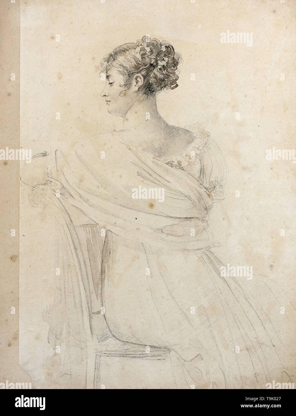 Portrait of Madame Récamier (1777-1849). Museum: PRIVATE COLLECTION. Author: FRANÇOIS GERARD. - Stock Image