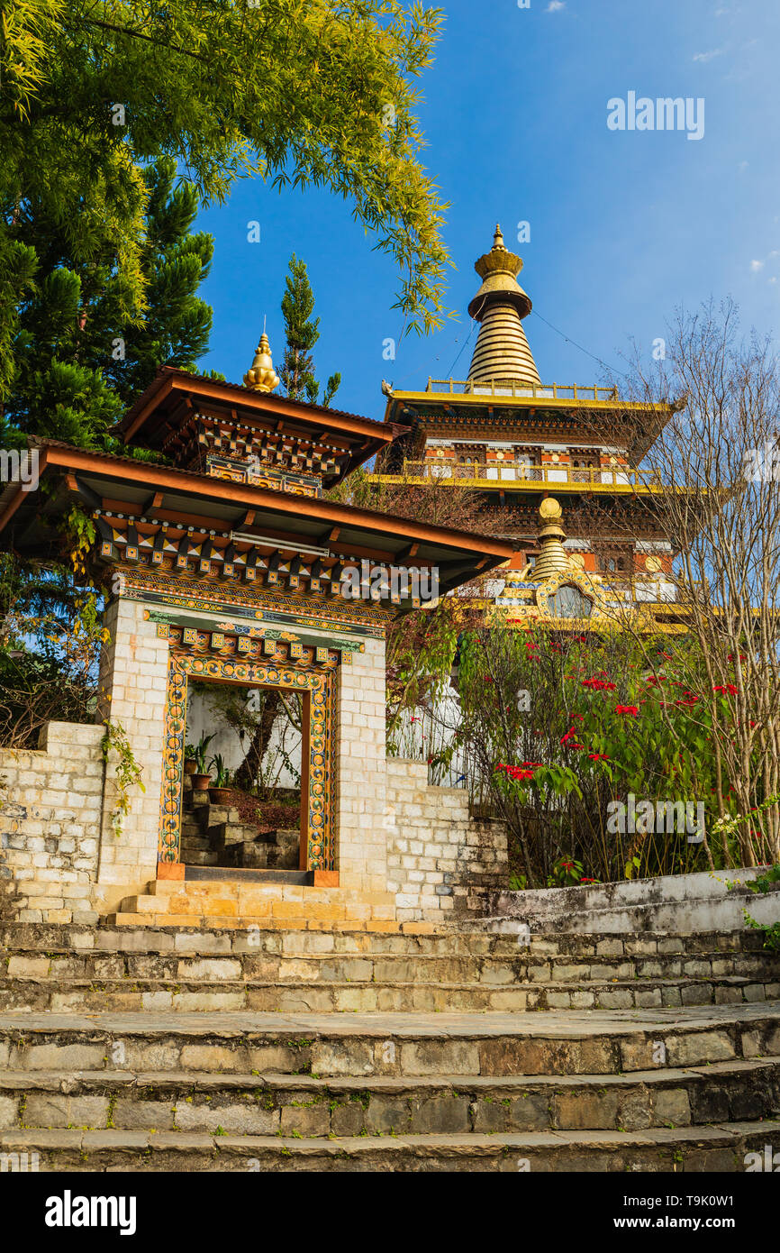 The Khamsum Yulley Namgyal Chorten has been built to maintain Peace and Harmony - Stock Image