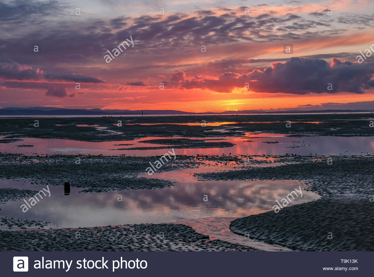 Sunset Findhorn - Stock Image