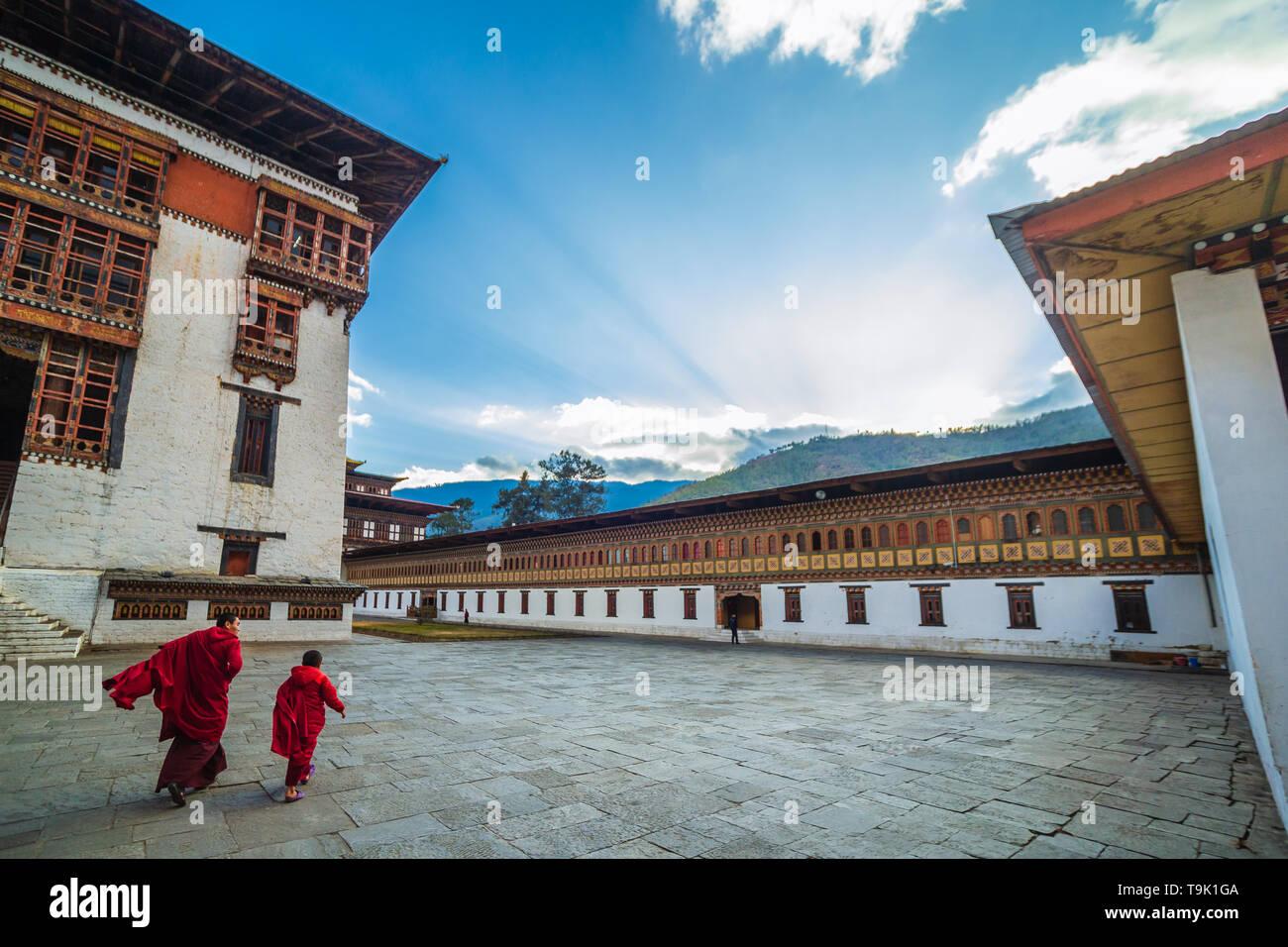 Thimphu, Bhutan: January 5th, 2017 - Stock Image