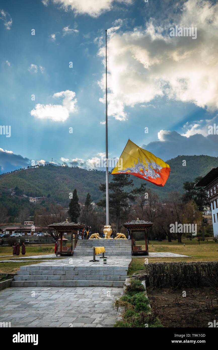 Thimphu, Bhutan - January 5th, 2017 - Stock Image