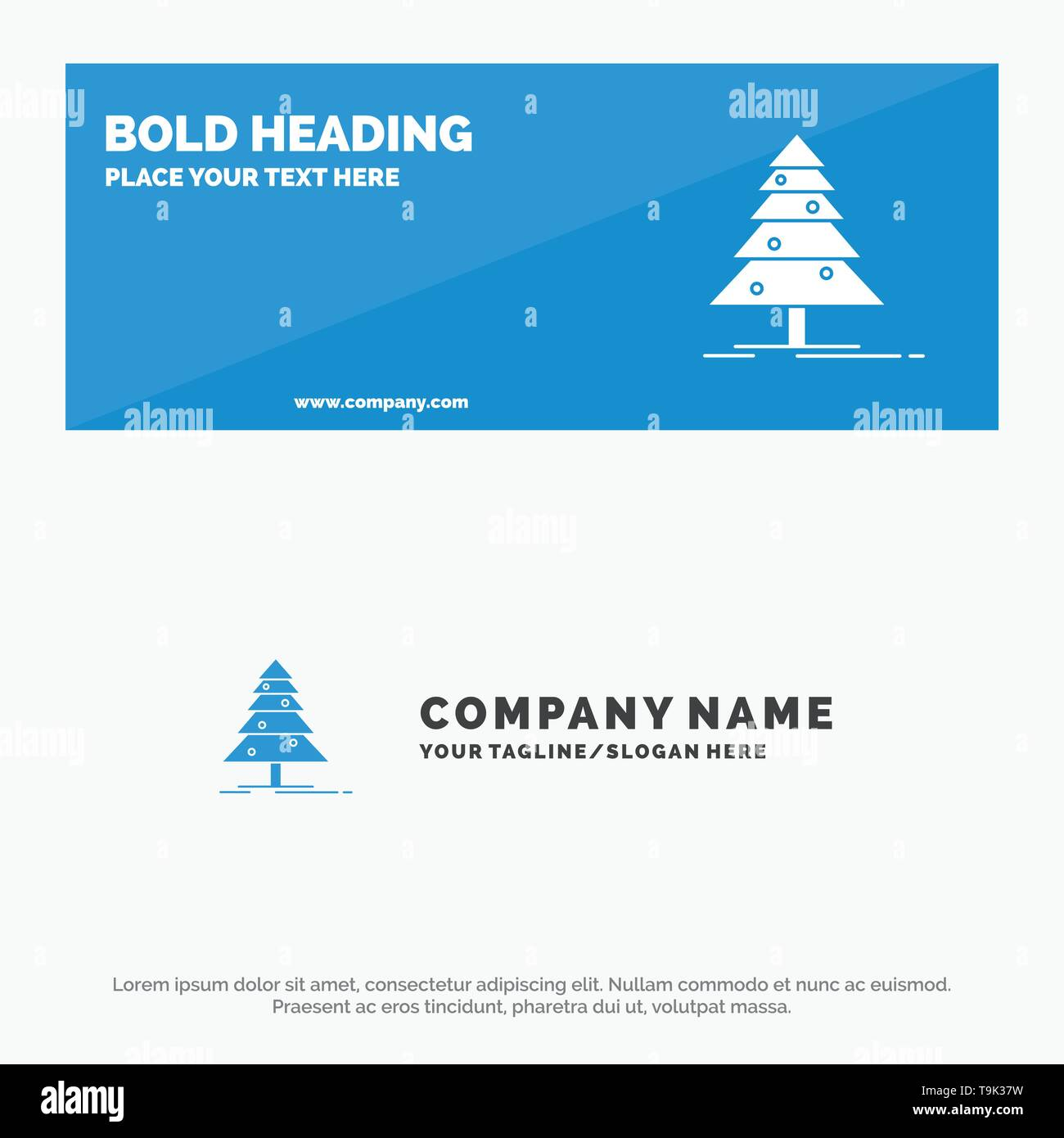 Tree, Forest, Christmas, XMas SOlid Icon Website Banner and Business Logo Template - Stock Image