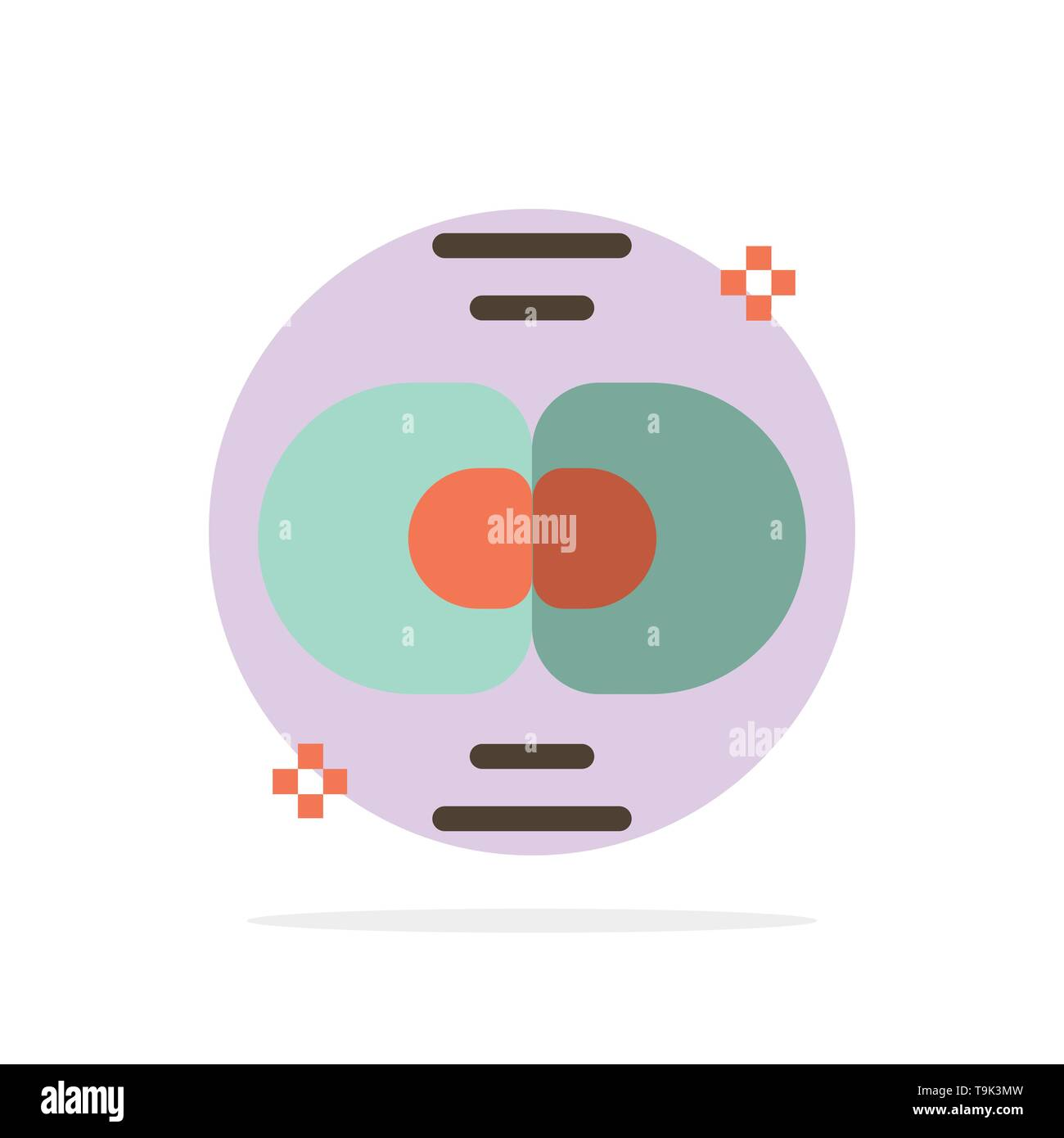 Biochemistry, Biology, Cell, Chemistry, Division Abstract Circle Background Flat color Icon - Stock Image