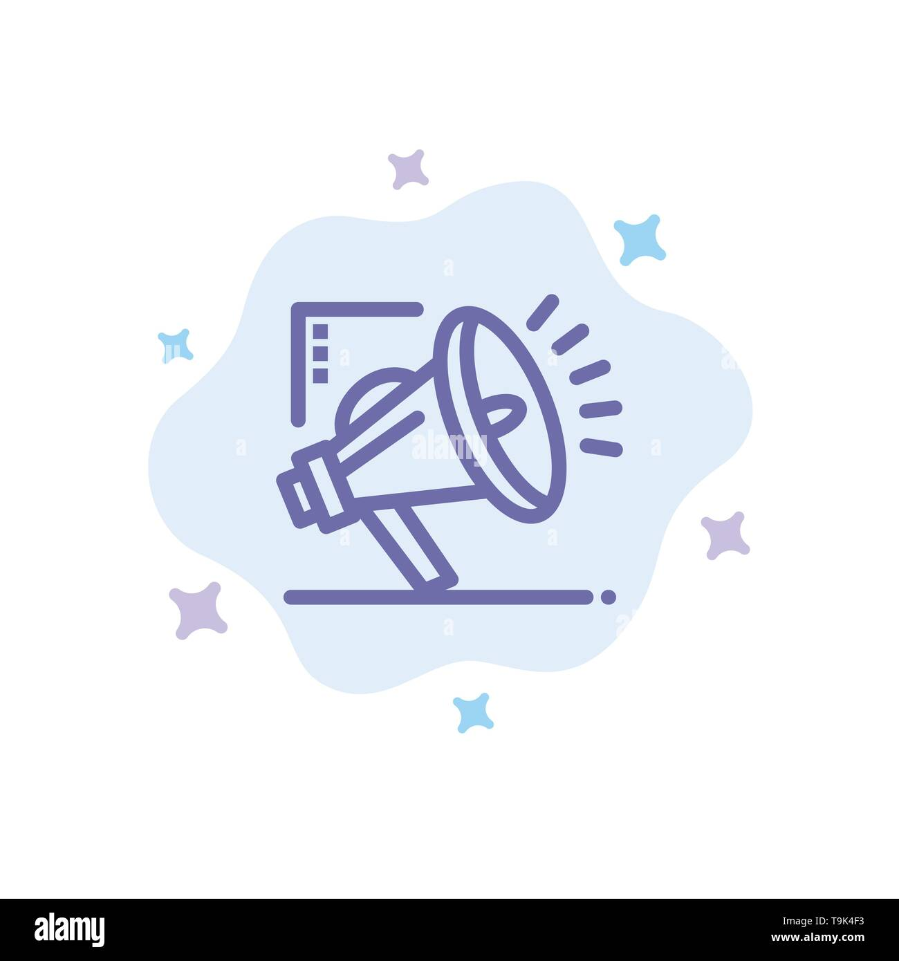 Marketing, Automation, Marketing Automation, Digital Blue Icon on Abstract Cloud Background Stock Vector