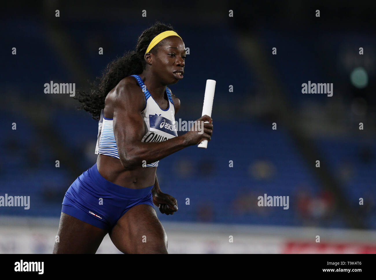 YOKOHAMA, JAPAN - MAY 10: Anyika Onuora of Great Britain and Northern Ireland during Day 1 of the 2019 IAAF World Relay Championships at the Nissan Stadium on Saturday May 11, 2019 in Yokohama, Japan. (Photo by Roger Sedres for the IAAF) - Stock Image