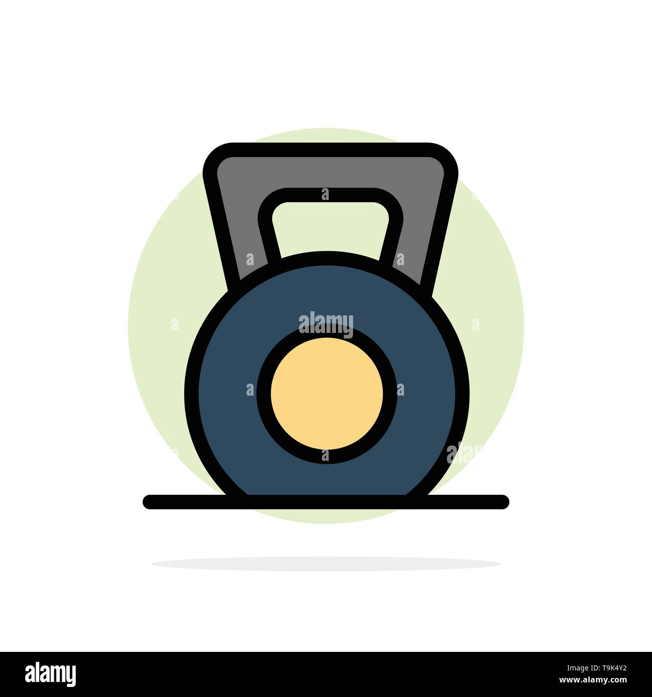 Dumbbell, Fitness, Gym, Lift Abstract Circle Background Flat color Icon - Stock Image