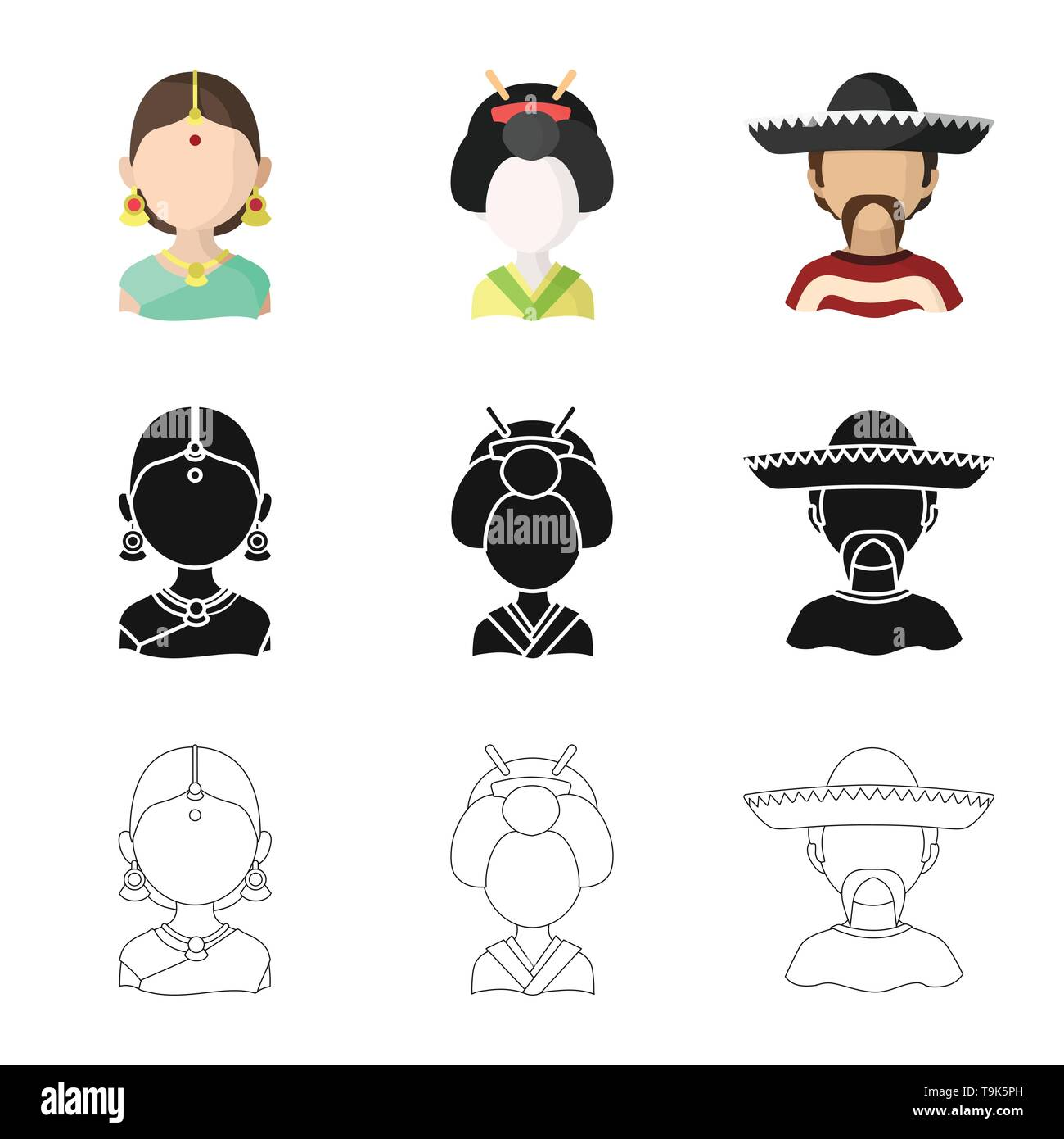 Isolated object of imitator and resident icon. Set of imitator and culture vector icon for stock. - Stock Image