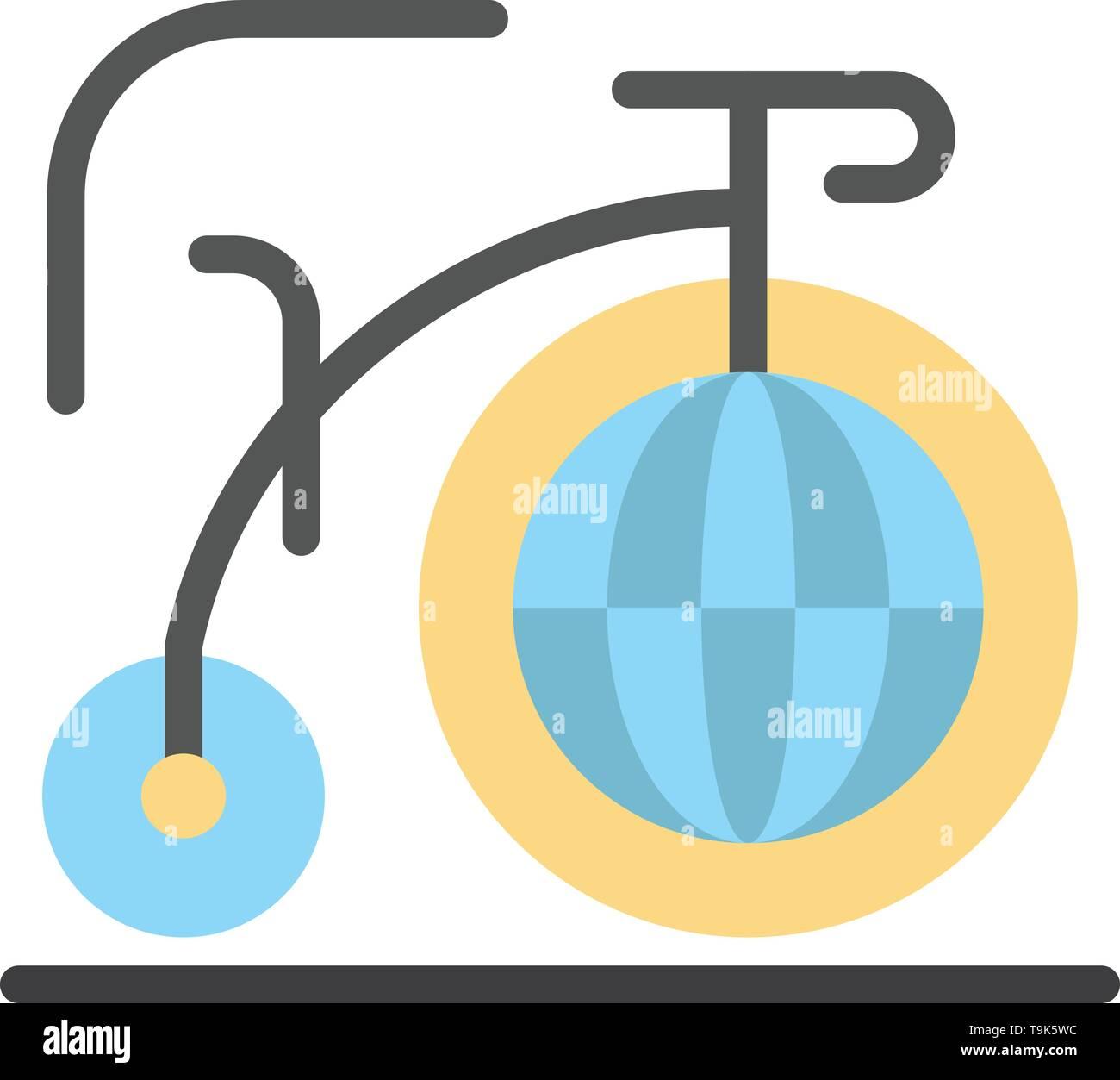 Big, Bike, Dream, Inspiration  Flat Color Icon. Vector icon banner Template - Stock Image