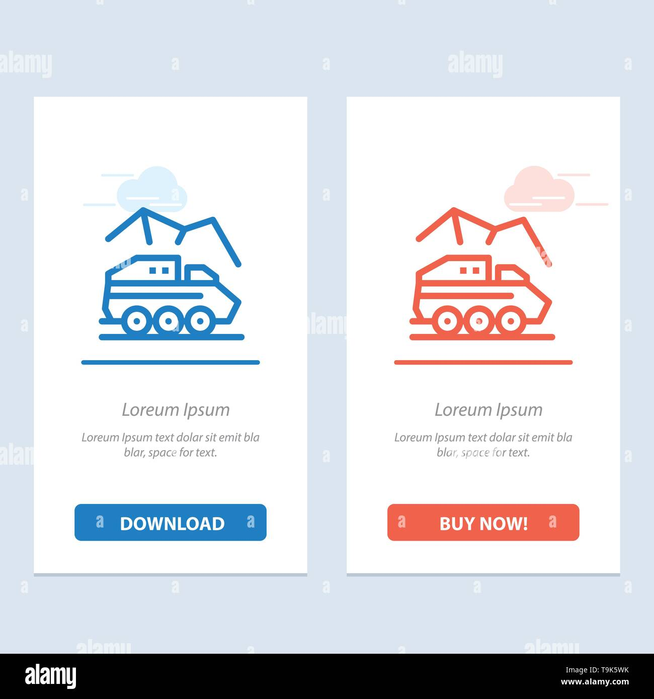 Exploration, Planet, Rover, Surface, Transport  Blue and Red Download and Buy Now web Widget Card Template - Stock Image