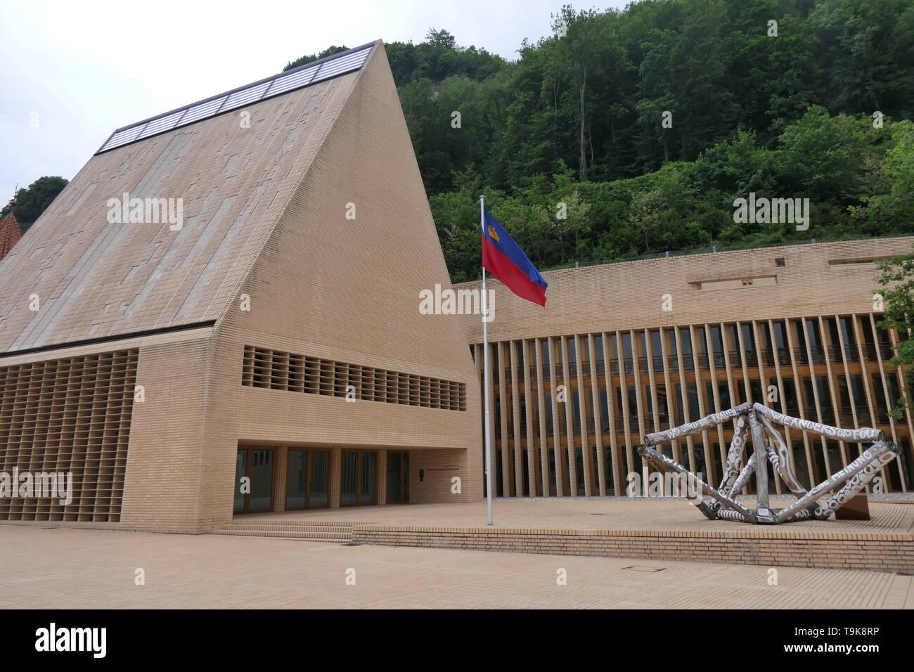 Vaduz Parliament Building, Government of Liechtenstein - Stock Image