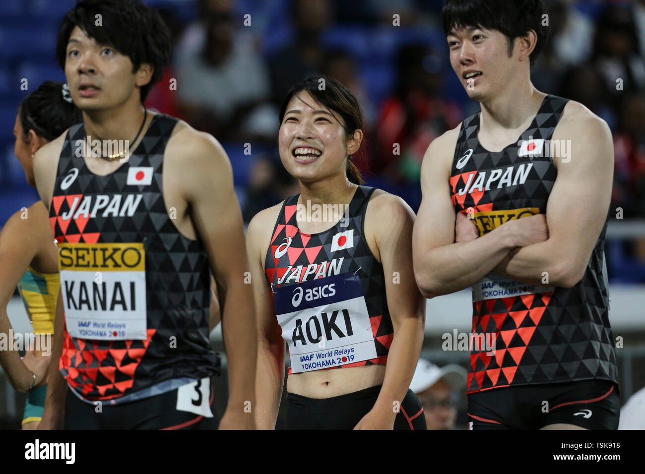 YOKOHAMA, JAPAN - MAY 10: Masumi Aoki of Japan during Day 1 of the 2019 IAAF World Relay Championships at the Nissan Stadium on Saturday May 11, 2019 in Yokohama, Japan. (Photo by Roger Sedres for the IAAF) - Stock Image