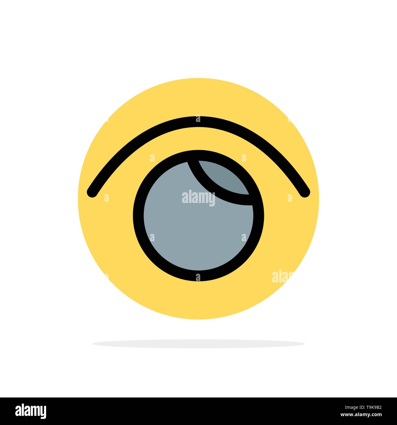 Eye, View, Watch, Twitter Abstract Circle Background Flat color Icon - Stock Image