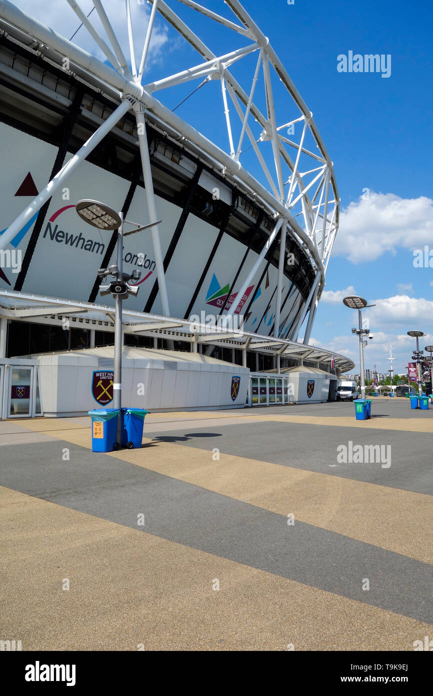 The London Stadium home to West Ham United in the Queen Elizabeth Olympic Park at Stratford, East London UK. - Stock Image